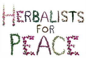 herbalists for peace lettering